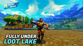 How to get FULLY under Loot Lake on Fortnite!
