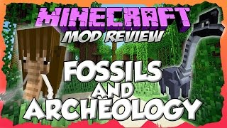 FOSSILS AND ARCHEOLOGY MOD 1.7.10 - ¡Mod para controlar y montar dinosaurios!