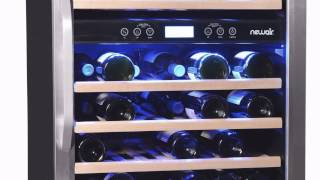 Best Price Free Shipping 46 Bottle Dual Zone Built-in Wine Refrigerator