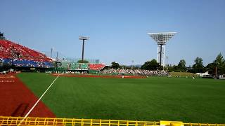 弘前市 はるか夢球場 楽天vsオリックス 試合前様子