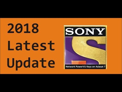 Sony Network Asiasat 7 Latest powervu key 2018 | All Reciver 100% Working