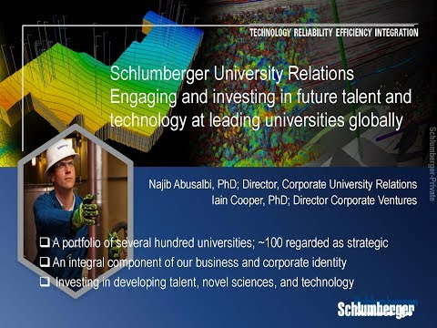 SCHLUMBERGER - DEVELOPING YOUR IP AND STARTUPS THROUGH CORPORATE STRATEGIC ALLIANCES