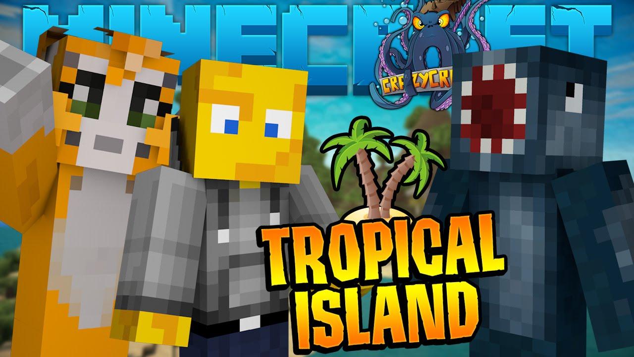 Minecraft crazy craft 2 2 tropical island 4 youtube