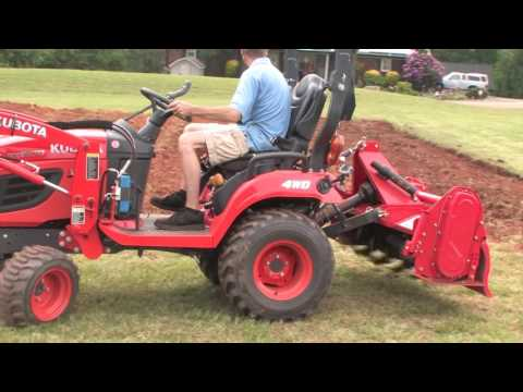 How To Till and Rotovate Your Garden With A Subcompact Tractor/Kubota BX