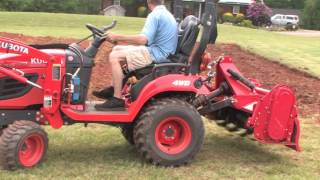 how to till and rotovate your garden with a subcompact tractor kubota bx