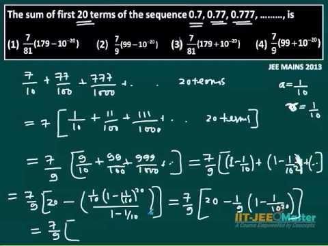 IIT JEE Main 2013 Maths Paper Solutions