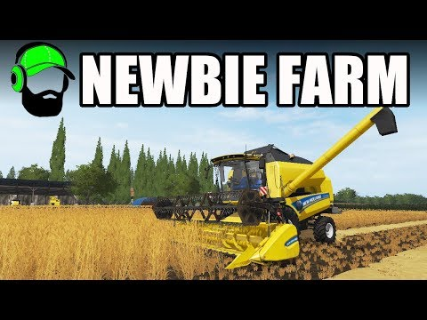 Farming Simulator 17 - Newbie Farm - Harvesting Barley
