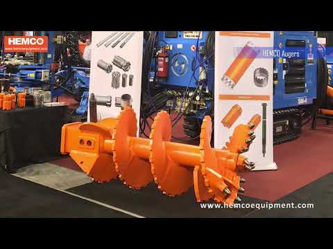 HEMCO drilling Augers, drilling buckets Piling tools