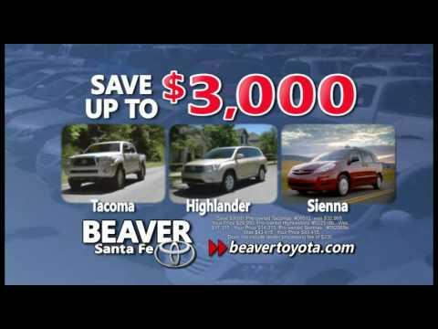 Everythingu0027s On Sale Beaver Toyota Santa Fe Save 3000 On Camrys Tacomas  Highlanders Sienna
