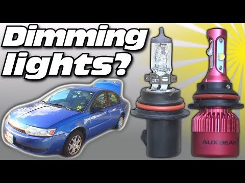 How To STOP Dimming Headlights When BASS HITS | Testing Halogen vs LED Headlight | Fix Car Audio Dim