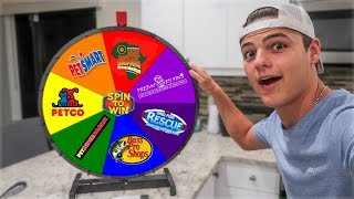 Spin the MYSTERY Wheel & going where it Lands - Challenge