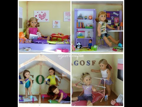 My Girls Dollhouse for American Girl Doll Building it YouTube