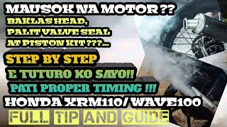 Download Mp3 Top Overhaul Honda Xrm110 & Wave100 And Other China Motor's | Step By St