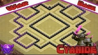 Clash Of Clans: TH8 Anti Air & GOWIPE Base - Cyanide