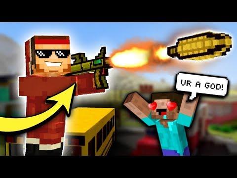 MOST OP GUN...   Pixel Gun 3D - Corn Launcher [Review]