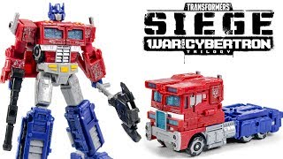 Transformers War for Cybertron SIEGE Voyager Class Optimus Prime Truck Vehicle Robot Toys