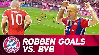 Arjen Robben's Best Goals against Borussia Dortmund ⚽💥