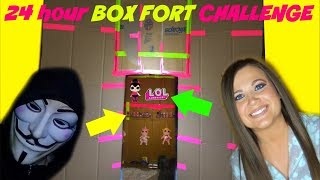 24 hours in BOX FORT JAIL Challenge with LOL Surprise dolls series 4 wave 2 PROJECT ZORGO