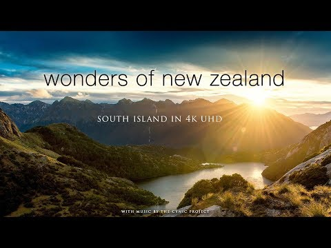 WONDERS OF NEW ZEALAND: SOUTH ISLAND 1HR 4K Nature Relaxation | Ambient Dynamic Film (+Music)