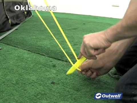 How to pitch the Outwell Oklahoma tent & How to pitch the Outwell Oklahoma tent - YouTube