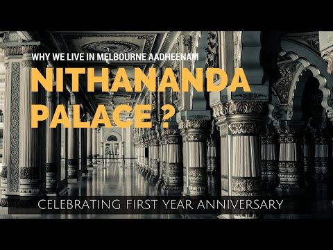 Why we live in Nithyananda Palace ?