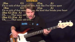 Same Old Love (Selena Gomez) Bass Guitar Cover Lesson in Bm with Chords/Lyrics
