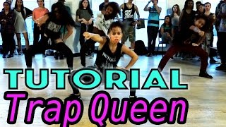 TRAP QUEEN - Fetty Wap Dance TUTORIAL | @MattSteffanina Choreography (Beginner Hip Hop)(TRAP QUEEN - Fetty Wap Dance TUTORIAL | Choreography by Matt Steffanina ▷ TWITTER, INSTAGRAM, VINE » @MattSteffanina ▷ Watch the FULL Vid ..., 2015-03-24T22:07:54.000Z)