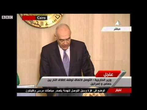 Israel-Gaza crisis: Egypt minister announces ceasefire (November 21, 2012)