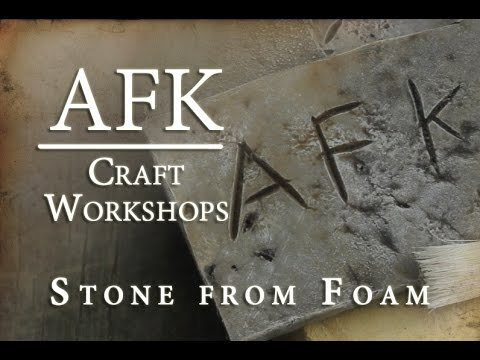 AFK Craft - How to Paint EVA foam to look like stone tutorial