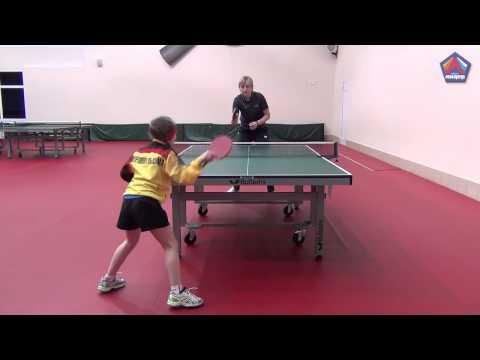 Как играть в настольный теннис видео для начинающих
