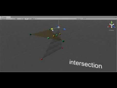 Unity3D : A Fast Triangle-Triangle Intersection Test