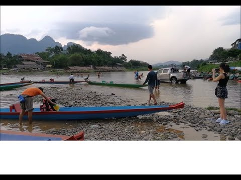 Awesome view of Vang vieng Laos - laos travel ( Vientiane Province )