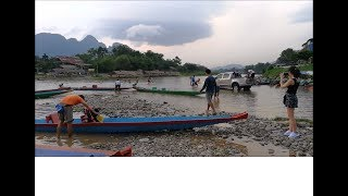 Awesome view of Vang vieng Laos 🔴 laos travel ( Vientiane Province )