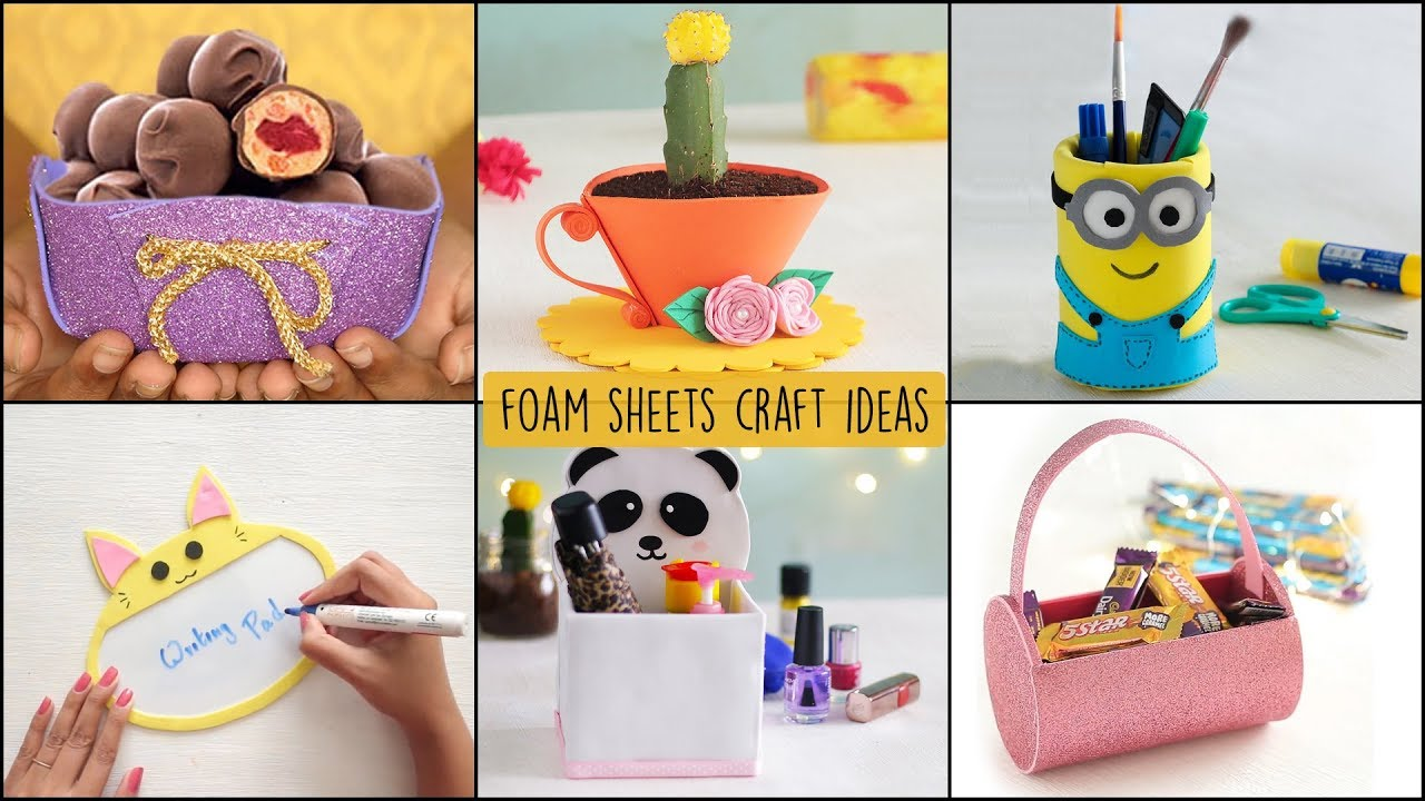 Recyclables Blog Diy Foam Sheets Craft Ideas