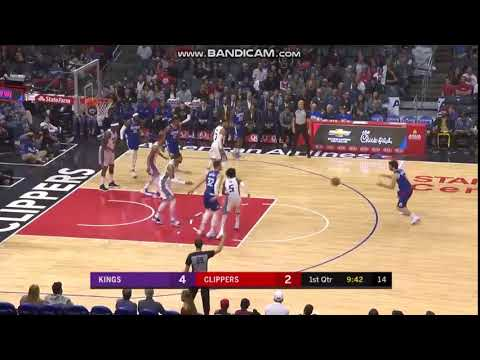 Milos Teodosic 3-pointer - Los Angeles Clippers vs. Sacramento Kings - NBA 13/01/2018