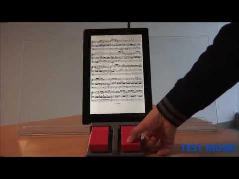 TEST MUSIC - Pedale WIRELESS RED WRP-01 per lettura spartiti - TABLET 13,3""