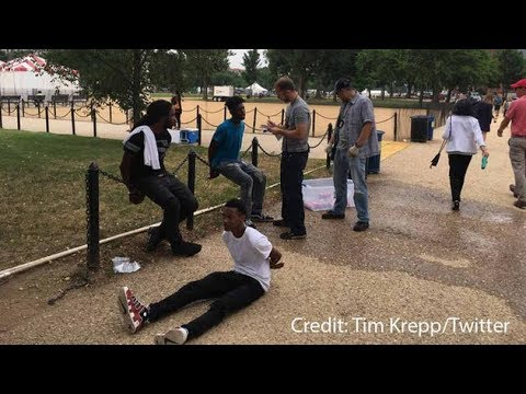 Black teens handcuffed for selling water on National Mall? How stupid is that?