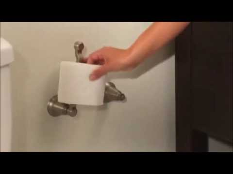 Moen Pivoting Paper Holder Design Youtube