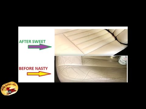 How To Fix NASTY Tan Leather Seats in  10 MINUTES