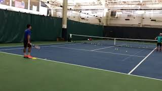 Nathan Nguyen forehand going wide