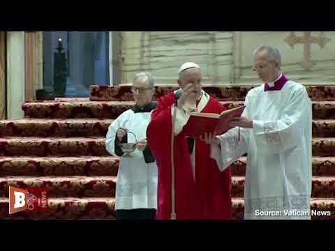 Pope Francis Celebrates Palm Sunday Mass In Near-Empty Church