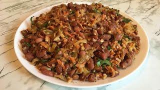 Лобио из Красной Фасоли(Грузинское Блюдо)/Пошаговый Рецепт(Очень Вкусно)