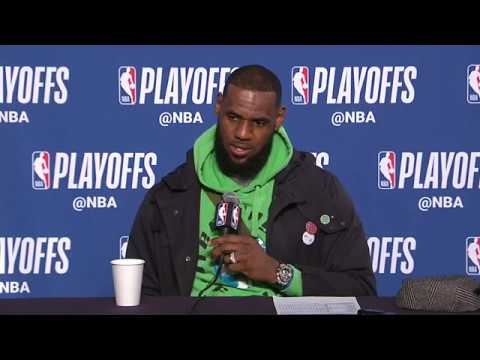 Lebron James Postgame Press Conference | Pacers vs Cavaliers | NBA Playoffs Game 1