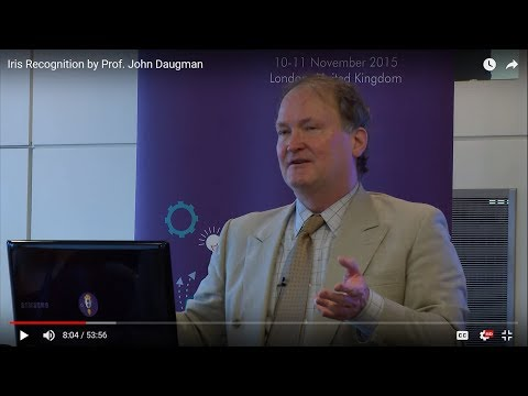 Iris Recognition by Prof. John Daugman
