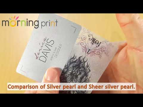Morningprint pearl business cards youtube morningprint pearl business cards reheart Choice Image