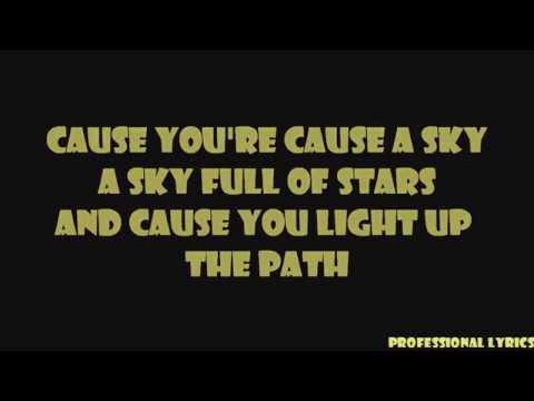 Coldplay - A Sky Full Of Stars Lyrics on Screen