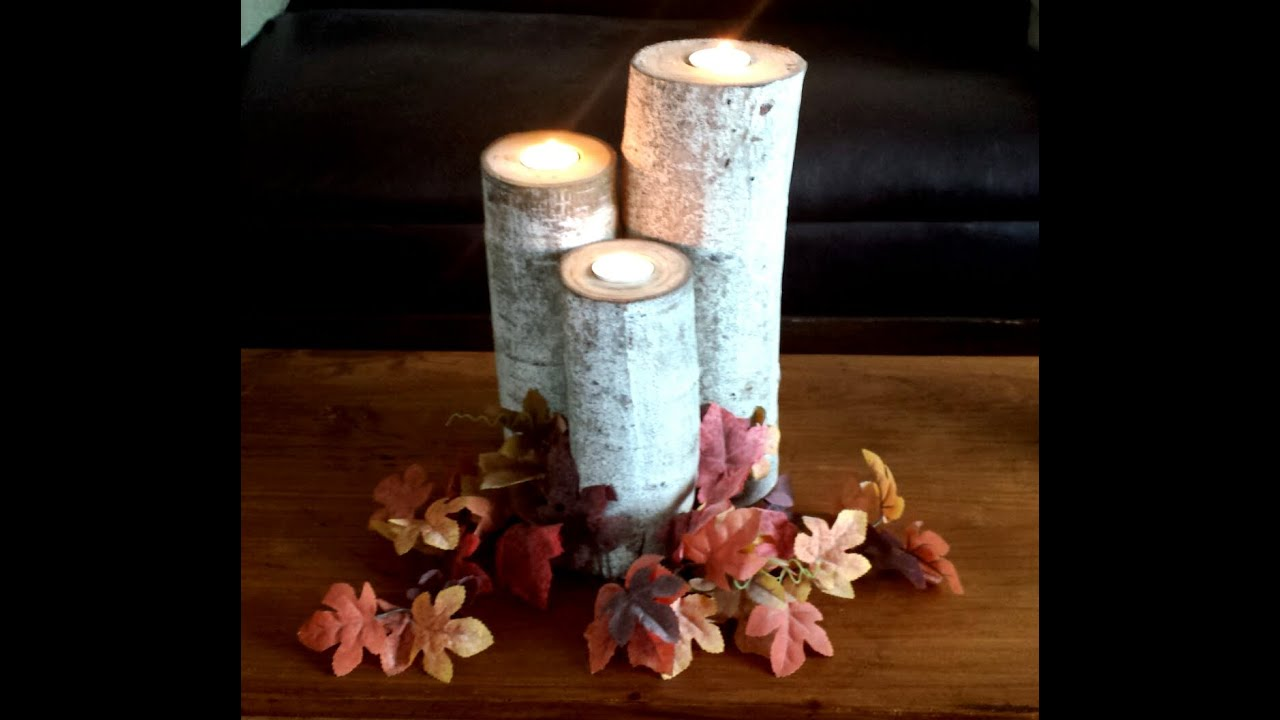 How to make aspen wood candle holders diy duke youtube for How to make christmas candle holders
