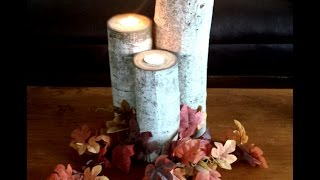 How To Make Aspen Wood Candle Holders - Diy Duke
