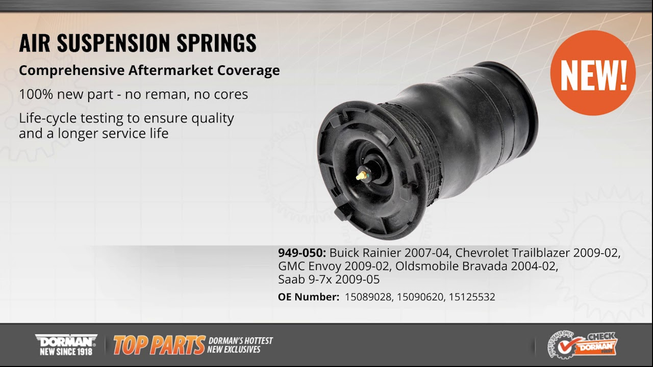 hight resolution of air suspension spring 949 050 air suspension air spring dorman products