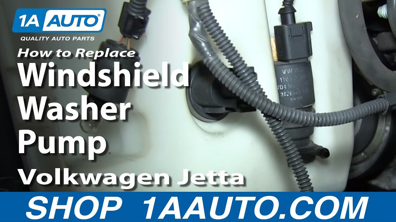 How to Replace Washer Pump 05 11 Volkswagen Jetta YouTube